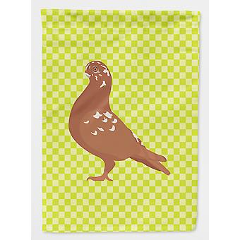 Carolines Treasures  BB7779CHF African Owl Pigeon Green Flag Canvas House Size