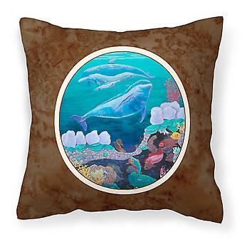 Delphin Familty schwimmen Stoff dekorative Kissen