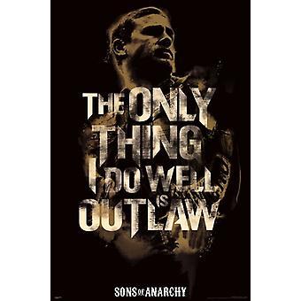 أبناء الفوضى-طباعة الملصقات ملصق الخارجة على القانون
