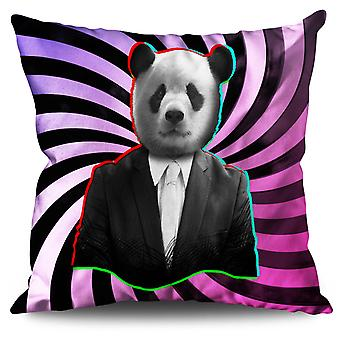 Panda Suit Beast Animal Linen Cushion Panda Suit Beast Animal | Wellcoda