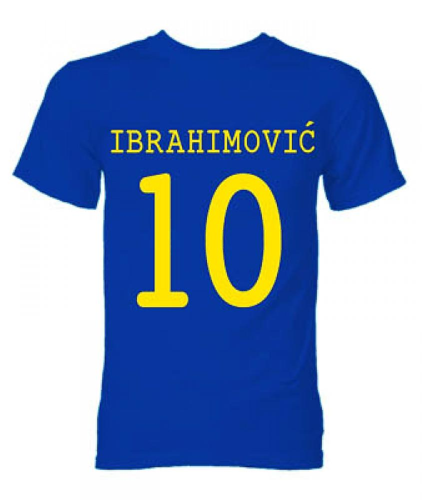 Zlatan Ibrahimovic Sverige helten T-Shirt (blå)