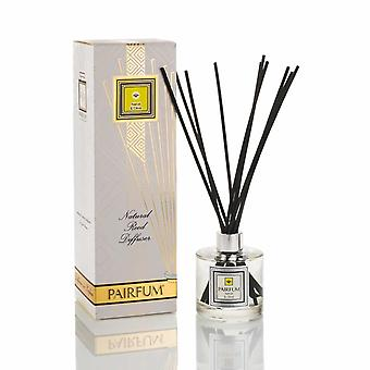 Large & Natural Reed Diffuser - Long-lasting & Healthy - Beautiful Perfumes that Compliment You - Fragrances for 6 - 8 months (200 ml) - by PAIRFUM - Perfume: Neroli & Olive - with Black Reeds