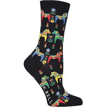 Novelty Crew Socks-Danish Horses NOVSOCKS-7H16