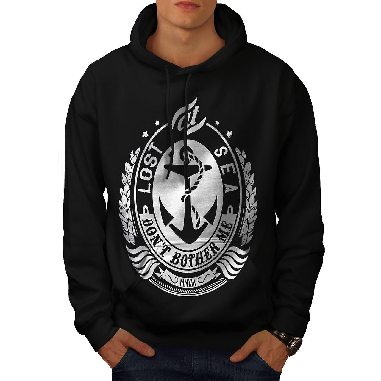 Don't Bother Me Slogan Men Black Hoodie | Wellcoda