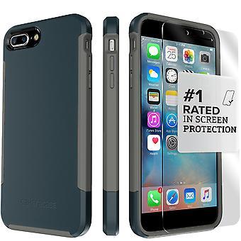 SaharaCase iPhone 8 Plus & 7 Plus azul marino caso, inspirar protección Kit paquete con ZeroDamage de cristal templado