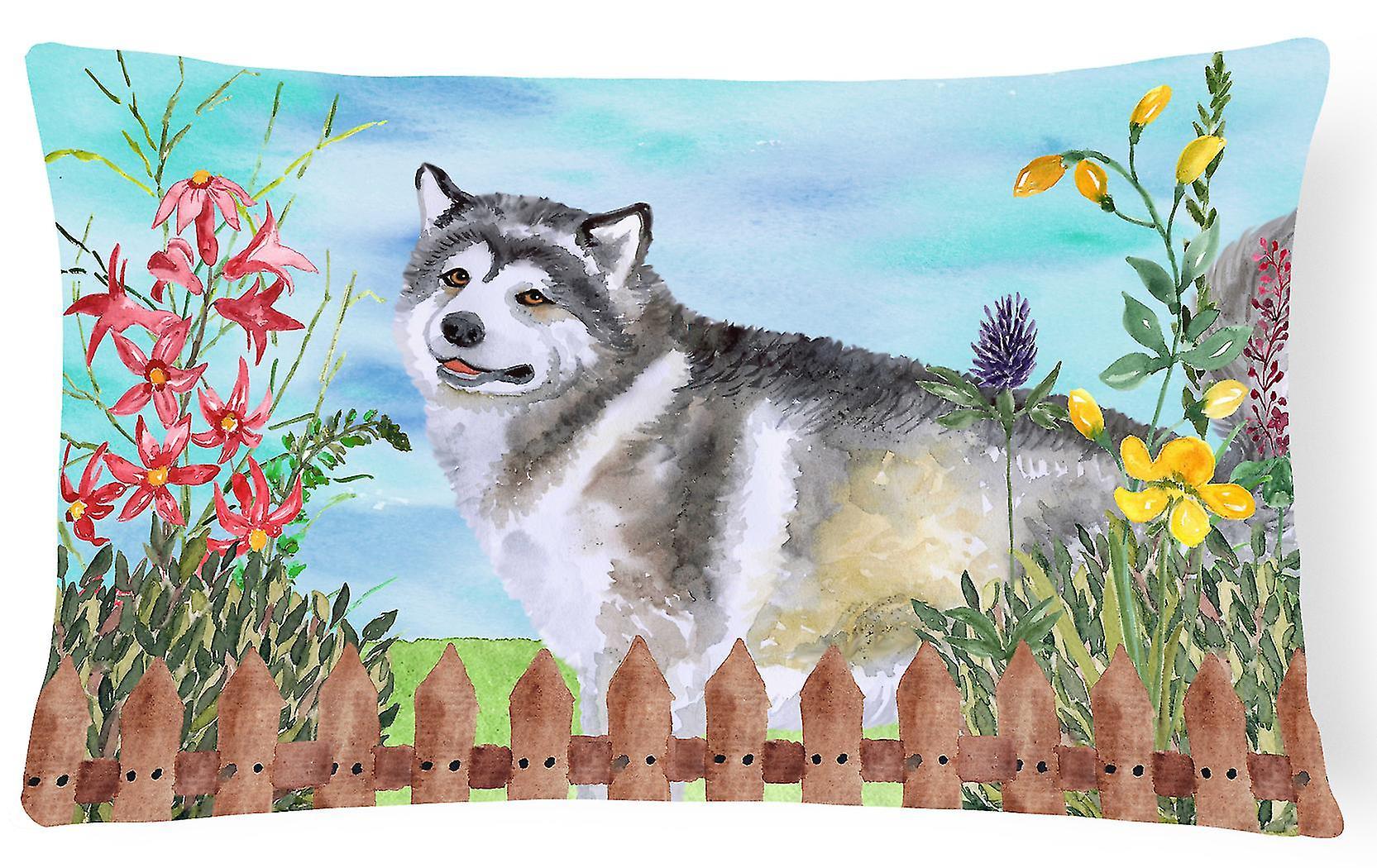 Decorative Spring Fabric Alaskan Canvas Malamute Pillow UVzMqpS