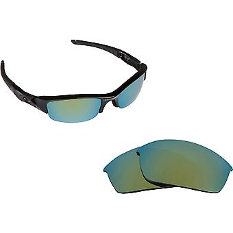 Best SEEK Replacement Lenses for Oakley FLAK JACKET Asian Fit Green Mirror
