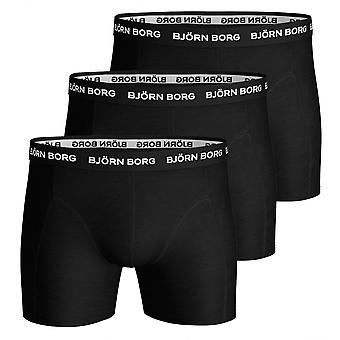 Bjorn Borg 3-Pack Classic Logo Boxer Trunks, Black