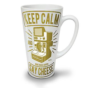 Camera Cheese NEW White Tea Coffee Ceramic Latte Mug 17 oz   Wellcoda