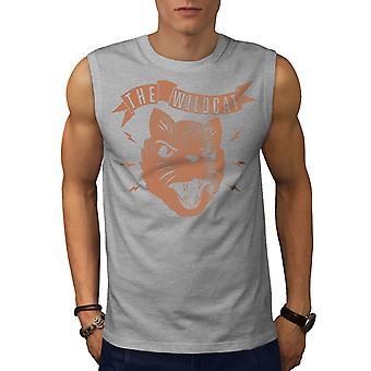 Die Wildkatze Geschworenen GreySleeveless T-shirt | Wellcoda