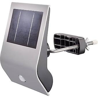Solar outdoor wall light ( + motion detector) Cold white Esotec 102420 Flexi Light Silver