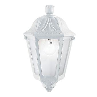 Ideal Lux Anna White Resin Traditional Porch Flush Wall Lantern