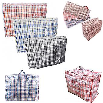 5 x Strong 56cm x 49cm Quality Storage Laundry Zipped Bag Recycled Reusable Bags