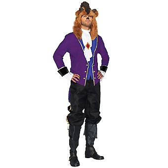 Fairytale Prince Beauty And The Beast Disney Princess Story Book Mens Costume