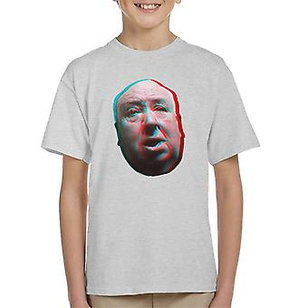 Alfred Hitchcock Face 3D Effect Kid's T-Shirt