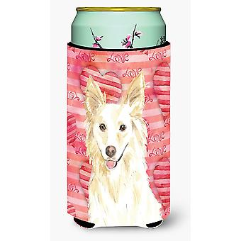 L'amore di un Collie bianco Tall Boy Beverage isolante Hugger