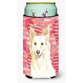 Love a White Collie Tall Boy Beverage Insulator Hugger