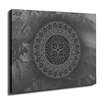 Mandala Wall Art Canvas 50cm x 30cm | Wellcoda