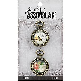 Tim Holtz Assemblage Charms 2/Pkg-Collage Domes THA20131
