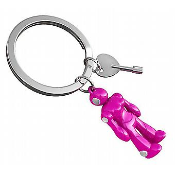 GIRL BOT Pink Robot Keyring with Moveable Arms & Legs