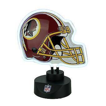 واشنطن Redskins لكرة القدم خوذة النيون النحت منضدية