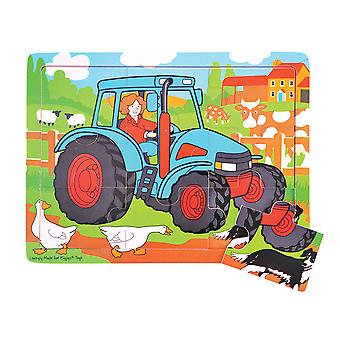 Bigjigs Toys Tray Puzzle Tractor