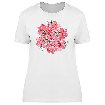 Lovely Pink Rhododendron Flowers Tee Women's -Image by Shutterstock