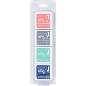 Clearly Kelly Vibrant Dye Ink Cubes 4 Colors