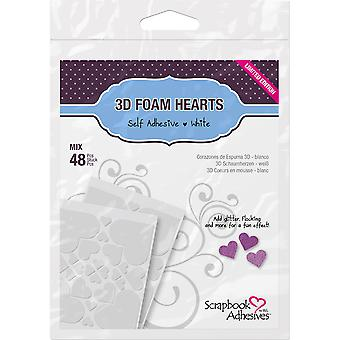 Scrapbook Adhesives 3D Foam Shapes 48Pcs-Hearts