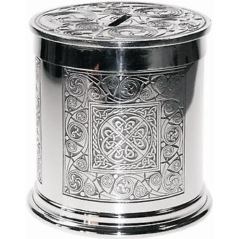 Celtic Spiral Pewter Money Box