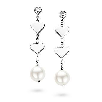 Orphelia Silver 925 Earring Pearl Hearts  ZO-5145