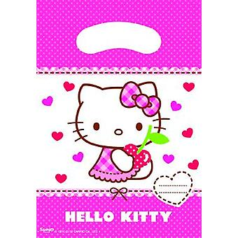 Hello Kitty Hearts Kätzchen Party Tüten Geschenktüten 6 Stück Kindergeburtstag Mottoparty
