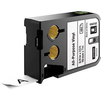 Labelling tape (multi-purpose vinyl) DYMO 1868752 XTL Tape colour: White Font colour:Black 19 mm 7 m