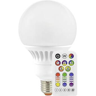 Müller Licht LED EEC A (A++ - E) E27 Globe 13 W = 60 W RGBW (Ø x L) 100 mm x 167 mm colour-changing, dimmable, incl. remote control 1 pc(s)