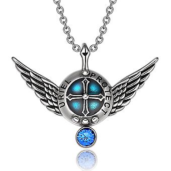 Ærkeengel Uriel engel vinger Shield beskyttelse magiske magt Amulet vedhæng halskæde
