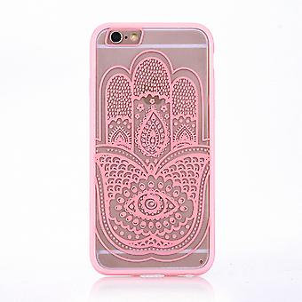 Mandala di Mobile Shell per motivo di custodia cover Samsung Galaxy J5 2016 design mano Fatima paraurti di borsa copertina rosa