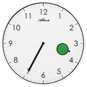 Atlanta 4431/0 wall clock quartz analog knows about flat with color changing