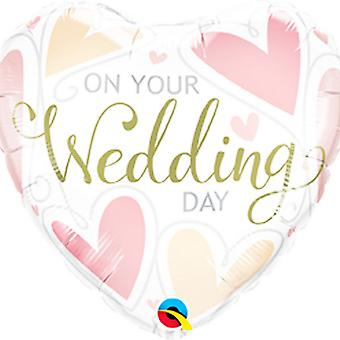 Qualatex 18in On Your Wedding Day Foil Balloon
