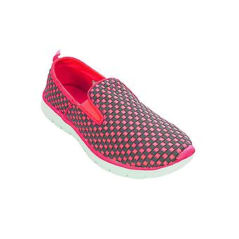 Ladies Slip On Check Checkboard Plimsolls Sneakers Flat Trainers Fashion Shoes