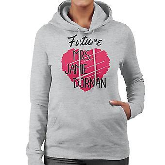Zukunft Frau Jamie Dornan Damen Sweatshirt mit Kapuze
