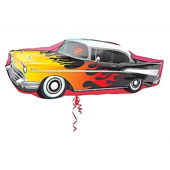 Amscan Supershape 50s Rockin coche con forma de globo de la hoja del partido