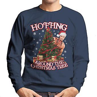David Hasselhoff Hoffing Around The Christmas Tree Men's Sweatshirt