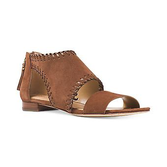KORS by Michael Kors Womens Broderick Suede Open Toe Casual Strappy Sandals