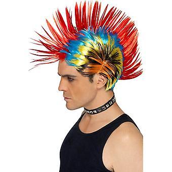 Breve parrucca Multi Mohican, Street Punk degli anni ' 80 Mohawk. Punkrocker anni 1980
