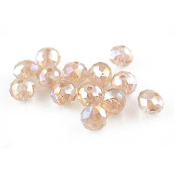 Strand 70+ Pale Pink Czech Crystal Glass 6 x 8mm Faceted Rondelle Beads HA20055