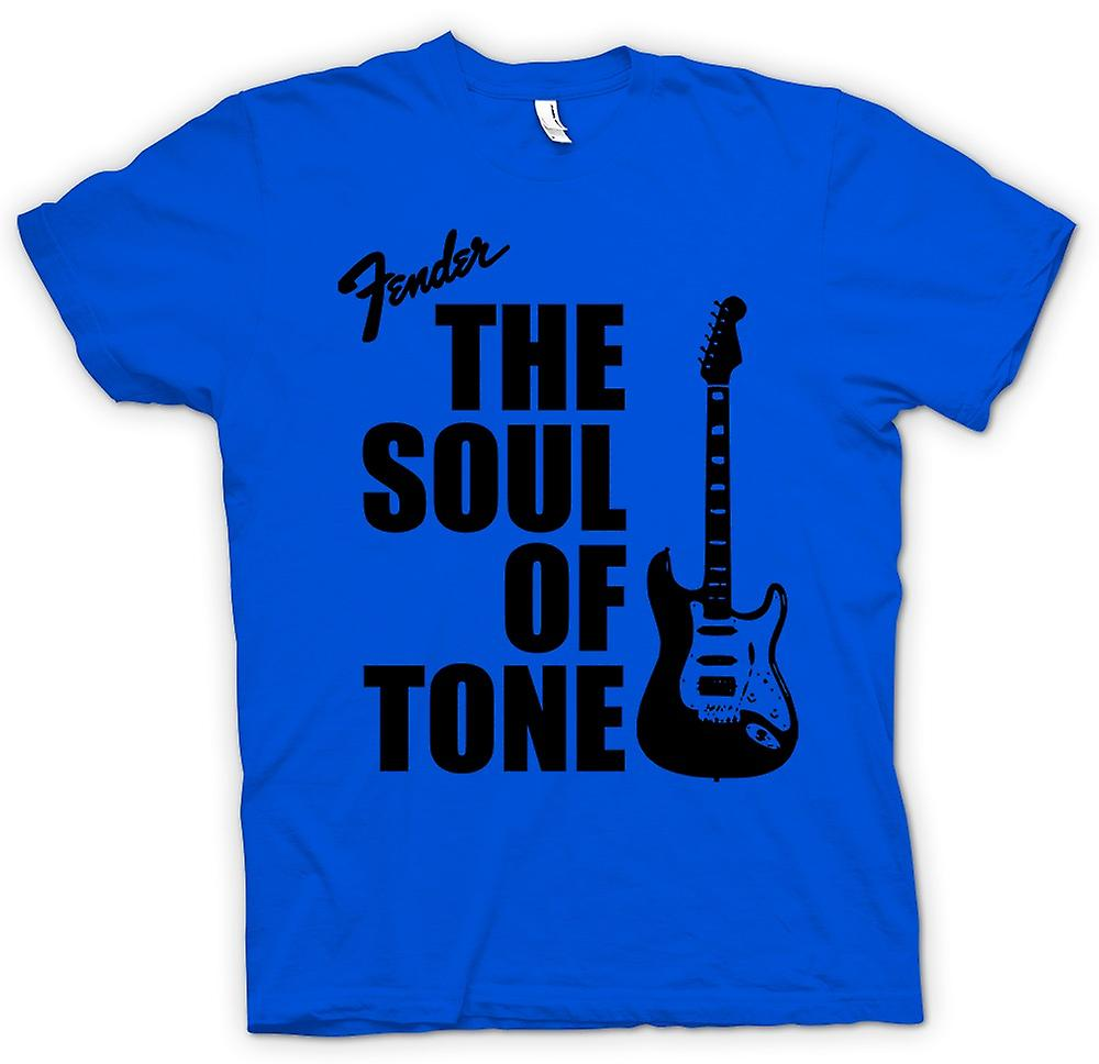 Mens T-shirt-Fender Strat ziel Toon gitaar