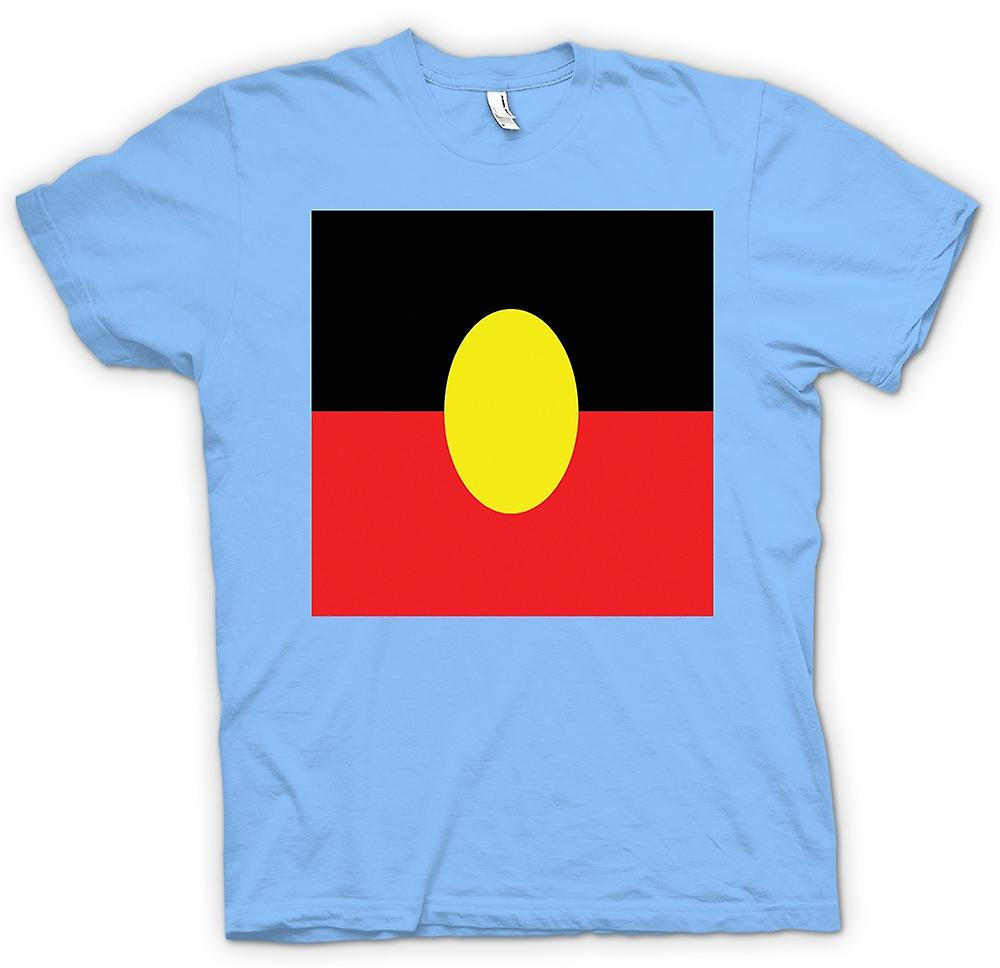 Mens T-shirt - Australian Aboriginal Flag