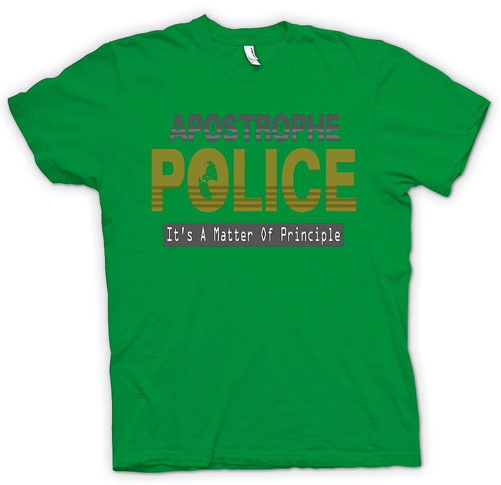 Camiseta para hombre - policía de apóstrofe - gracioso