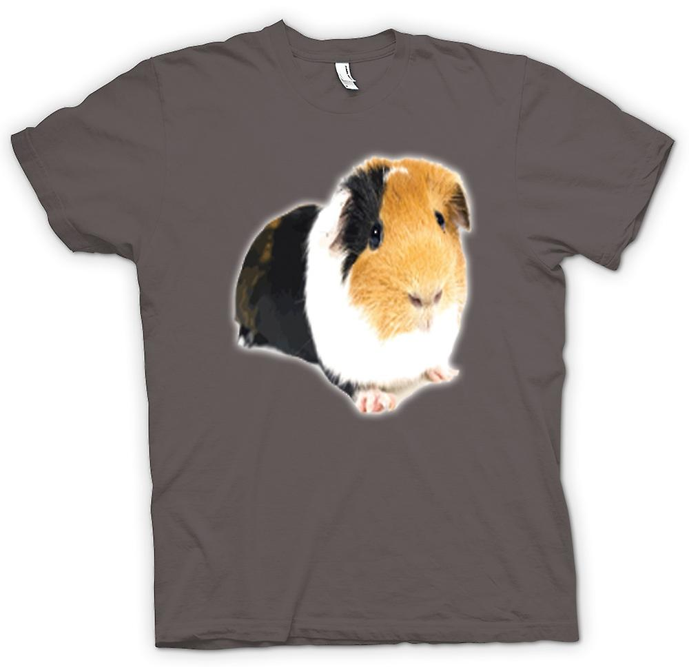 Womens T-shirt - Guinea Pig Brown And White