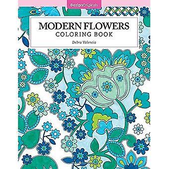 Moderne bloemen kleurplaten boek (kleur Studio)